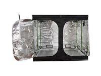 Hydroponics 2.4m x 1.2m x 1.8m Green Box LOW Indoor Grow Tent Bud Dark Room Box