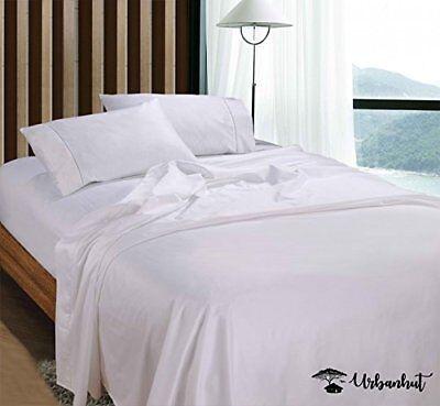 - Egyptian Cotton Sheets Set (4 Piece) 800TC-Deep Pocket Bedding Set KING WHITE