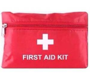 Red First Aid Kit Pack (approx. 14x20cm) for Home, Car or Office Enfield Burwood Area Preview