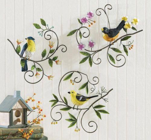 Metal Bird Wall Decor   eBay