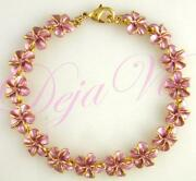 Gold Plumeria Bracelet
