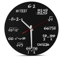 Smart Wall Clock School Math Equation Solver Chalkboard Unique Traditional Gift