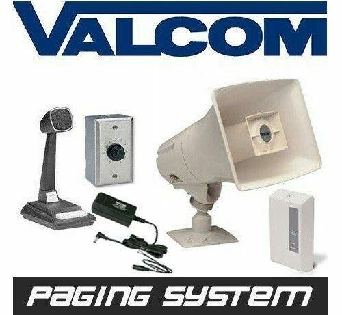 Valcom Business Warehouse Industrial Paging Horn Speaker System Intercom