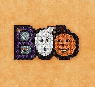 10% Off Mill Hill Counted X-stitch/Bead Kit-Autumn Harvest Collection - Boo