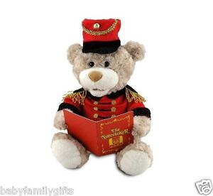 Cuddle Barn Christmas Nutcracker Teddie Animated Talking Plush Story Music Bear