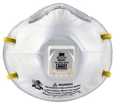 3m 8210v N95 Particulate Respirator- 10 Masksbox