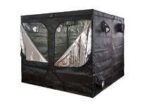 Hydroponics 2.4m x 2.4m x 2.2m Green Box HIGH Indoor Grow Tent Bud Dark Room Box