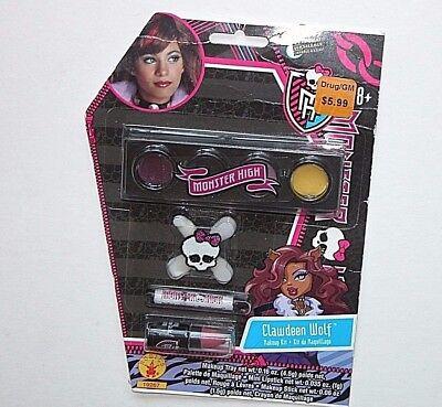NEW NIP Monster High Clawdeen Wolf Makeup Kit Halloween  - Halloween Monster High Makeup