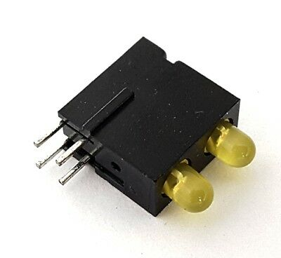 Yellowyellow 3mm Dual Led Pcb Indicator Light Mentor 1801.7731 100 Pcs