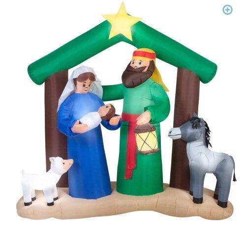 Labor Day Price Onlygemmy Christmas Inflatable 7' Nativity Scene Retail $89.99