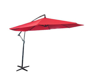 10'  Patio Umbrella and Stand - Red