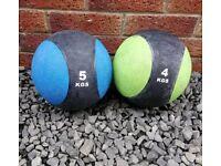 5kg and 4kg medicine balls