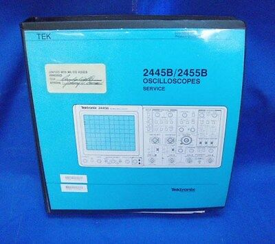 Tektronix 2445b2455b Oscilloscopes Service Manual