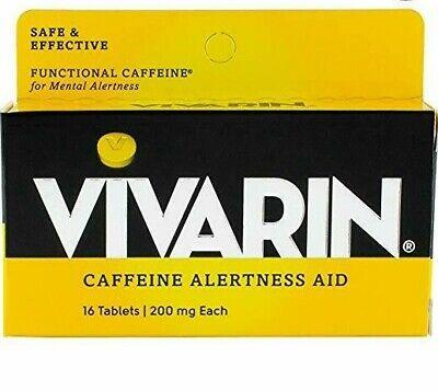 Vivarin Caffeine Alertness Aid, 200mg Tablets, 16 Count -Expiration Date -
