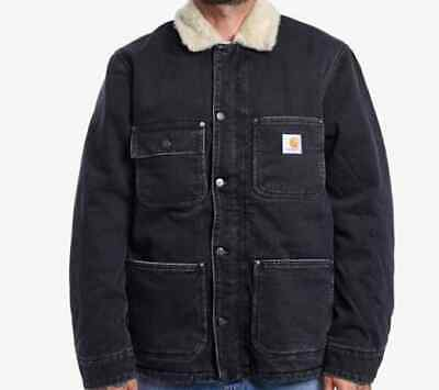 Chaqueta Hombre Carhartt Fairmount Abrigo (Negro Color Piedra Lavado) Talla XXL