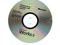 MICROSOFT WORKS 9 Full English Version