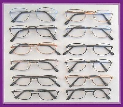 Reading Glasses[+1.75] 24 Pair Metal Frame Assorted Styles Colors Wholesale 1.75