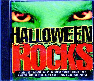 HALLOWEEN ROCKS: CLASSIC RARE POLYGRAM HALLOWEEN PARTY CD - ALL ORIGINAL ARTISTS - Halloween Party Music Original Artists