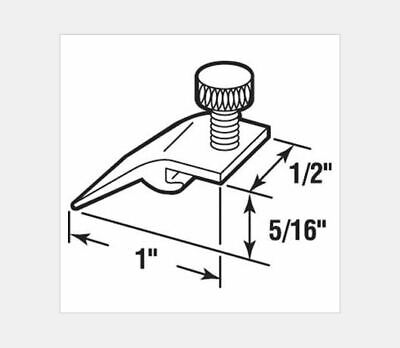 (25) Storm Door Panel Clips, Extruded, 5/16 inch drop, White Nylon Thumbscrew ()