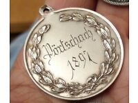 Large Victorian 1897 Austrian 925 Stamped Silver Medal