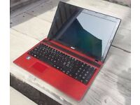 CORE i3 RED EDITION ACER 4 x 2.4GHZ HDMI CAMERA 15.6inch LED WINDOWS 10