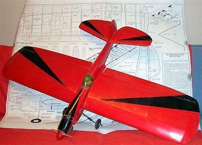 Vintage P-40 Black Tiger Uc Stunt 2 Model Airplane Plans Berkeley+ 1953 Article