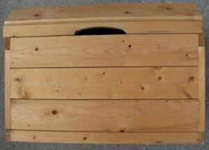 Solid Pine Wooden Box 22x15x16h