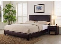 Prado Faux Leather Double Bed