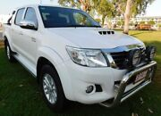 2015 Toyota Hilux KUN26R MY14 SR5 Double Cab White 5 Speed Automatic Utility Berrimah Darwin City Preview