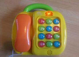 Sainsbury's grow and play toy phone/ keyboard