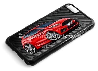 RetroArtz Cartoon Car Ford Fiesta MK7 ST in Red iPhone 6/6+ Case/Cover