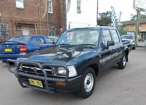 1996 Toyota Hilux Tamworth LE Green 5 Speed Manual Dual Cab Pick-up Belmore Canterbury Area Preview