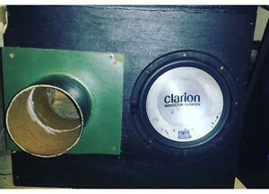 "10"" clarion sub in 6"" ported box"