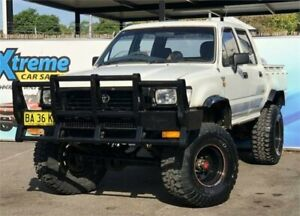 1996 Toyota Hilux LN106R DX White Manual Utility Campbelltown Campbelltown Area Preview