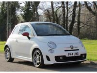 Sporty little 2012 Abarth 500 1.4 Turbo in Bossa Nova White with Black and Red sports interior!
