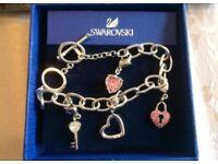 Swarovski charm bracelet brand new in box