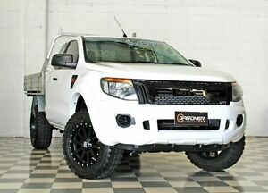 2012 Ford Ranger PX XL 2.2 HI-Rider (4x2) White 6 Speed Automatic Super Cab Chassis Burleigh Heads Gold Coast South Preview