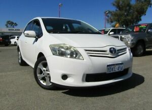 2010 Toyota Corolla ZRE152R MY11 Conquest White 6 Speed Manual Hatchback Bellevue Swan Area Preview