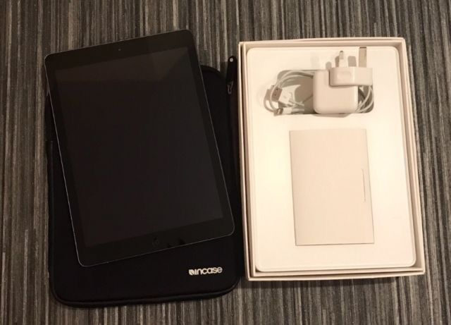 iPad Air 16GB Wifi Good conditionin Bowburn, County DurhamGumtree - iPad Air 16GB Wifi Space grey Good condition few scratches (see photo) but still works like new Comes with original box and charger as well as a zipped sleeve which it has been stored in since new