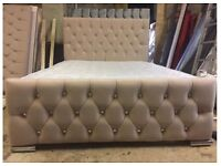 IVORY SLEIGH BED FRAME ONLY