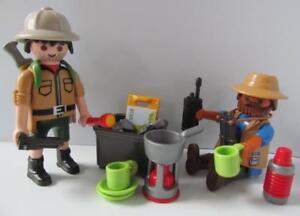 Playmobil Safari/Camping/Explorer figures with kit & backpack NEW