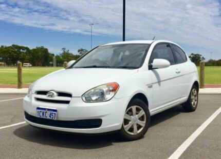 2006 Hyundai Accent LS 1.6 White 5 Speed Manual Hatchback Kenwick Gosnells Area Preview