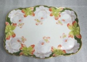 ANTIQUE LDBC FLAMBEAU LIMOGES HAND PAINTED Porcelain Vanity