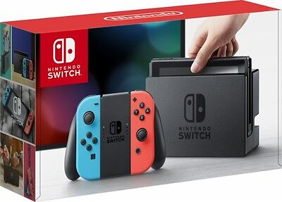 NEW Nintendo Switch 32GB Console Neon Red Blue Joy Con FAST FREE SHIPPING!!