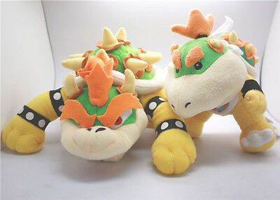 Super Mario Bros King Koopa & His Son Bowser Jr. Junior Plush Doll 2x X'mas Toy - Bowser Sons