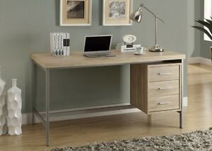 BUREAU 3 TIRROIRS, MEUBLE ORDINATEUR, DESK,OFFICE