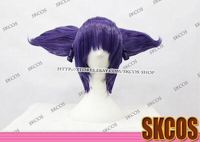 Future Diary Uryuu Minene Cosplay wig costume purple colour 2 clip