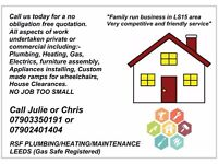 Plumbing/Heating and Maintenance service offered BEST PRICES