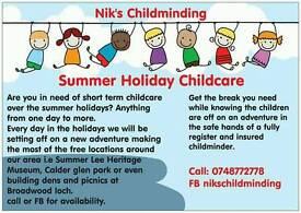 Summer holiday child care 1 day to more