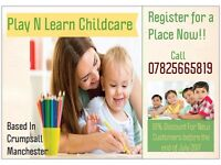 RELIABLE CHILDMINDER WITH LIMITED PLACES STILL AVAILABLE - REGISTER NOW!!